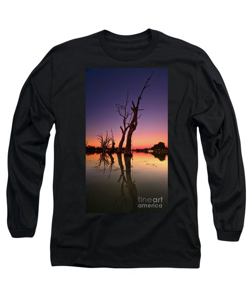 Long Sleeve T-Shirt featuring the photograph Renmark South Australia Sunset by Bill Robinson