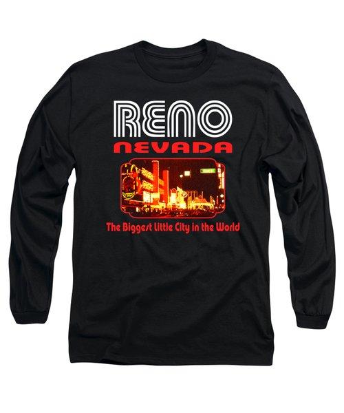 Reno Nevada - Tshirt Design Long Sleeve T-Shirt by Art America Gallery Peter Potter