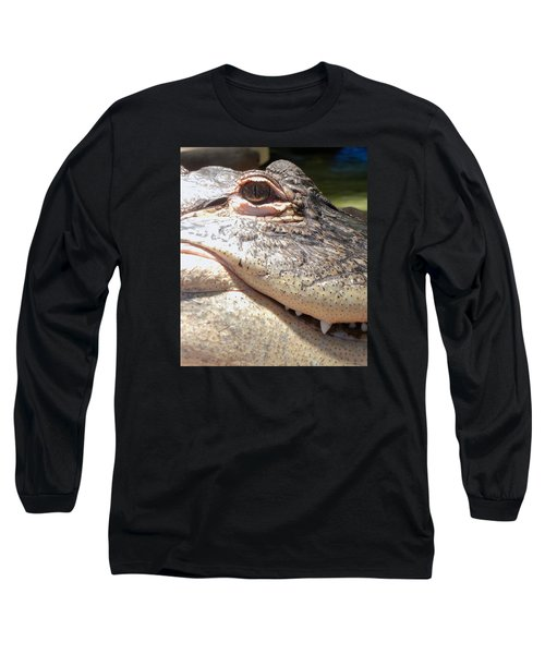Reptilian Smile Long Sleeve T-Shirt by KD Johnson