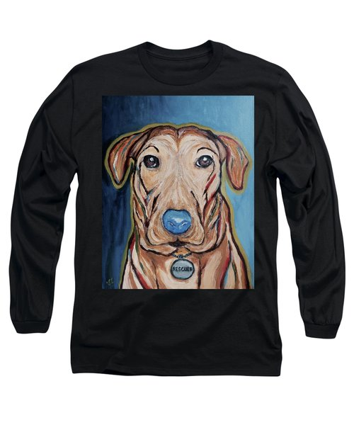 Rescued Long Sleeve T-Shirt by Victoria Lakes