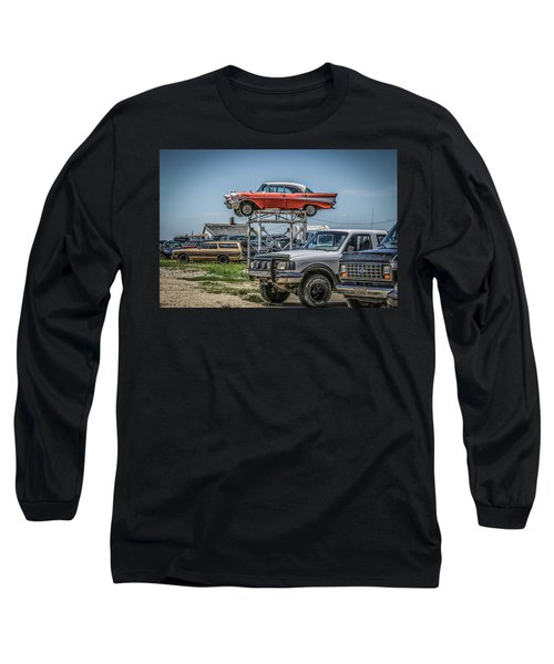 Reserved Parking Long Sleeve T-Shirt by Ray Congrove