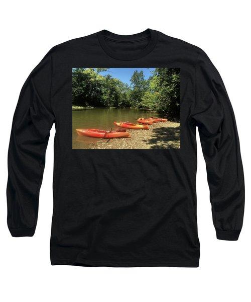 Resting Kayaks Long Sleeve T-Shirt