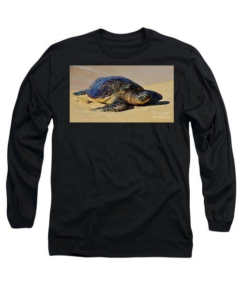 Resting Sea Turtle Long Sleeve T-Shirt