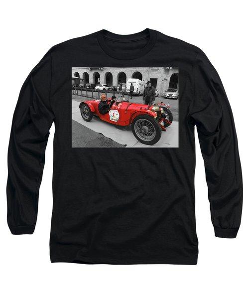 Retro Auto Fiat Balilla Long Sleeve T-Shirt