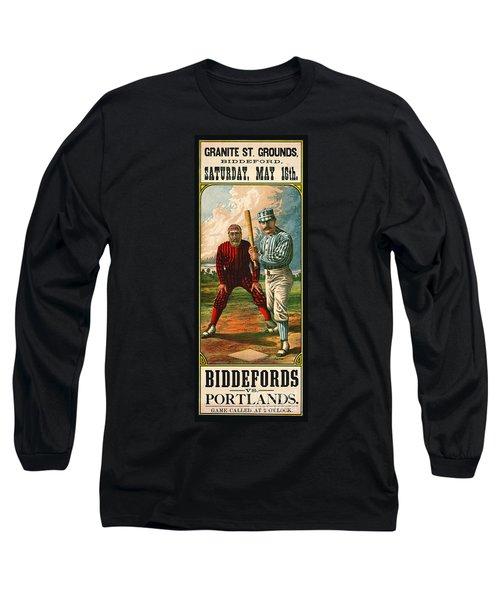 Retro Baseball Game Ad 1885 B Long Sleeve T-Shirt