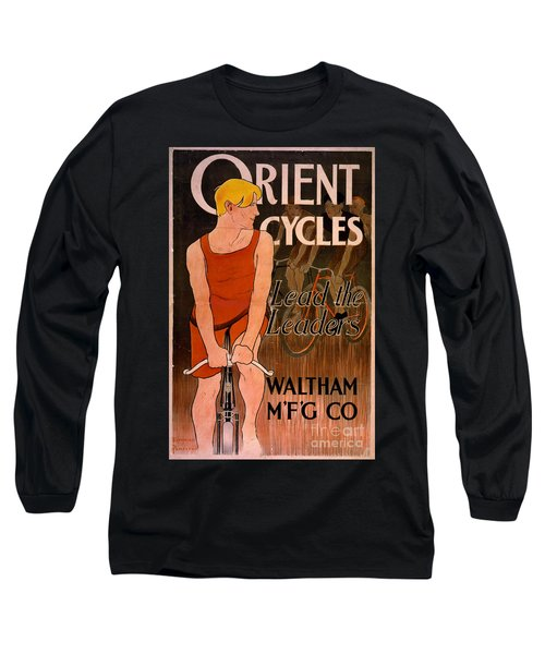 Long Sleeve T-Shirt featuring the photograph Retro Bicycle Ad 1890 by Padre Art