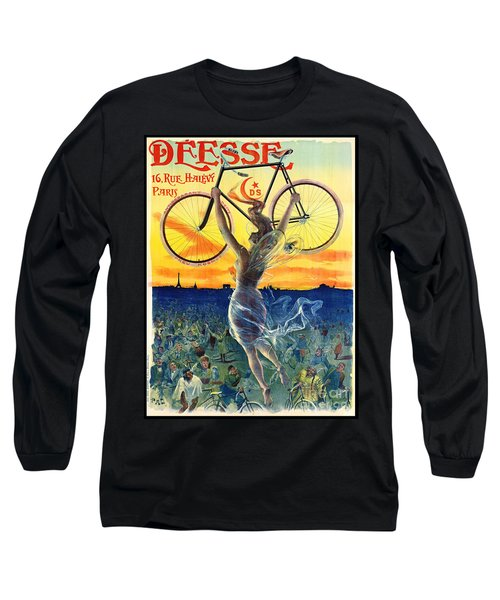 Long Sleeve T-Shirt featuring the photograph Retro Bicycle Ad 1898 by Padre Art