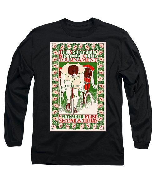 Long Sleeve T-Shirt featuring the photograph Retro Bicycle Poster 1895 by Padre Art