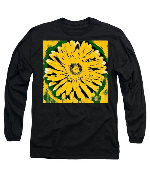 Retro Daisy Long Sleeve T-Shirt by Marsha Heiken