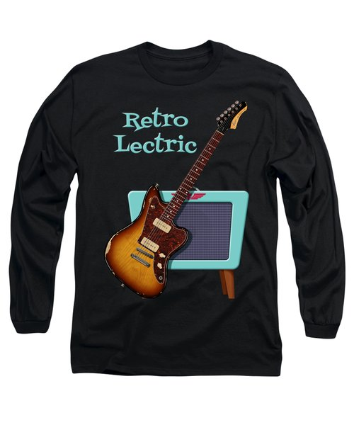 Retro Lectric Long Sleeve T-Shirt by WB Johnston