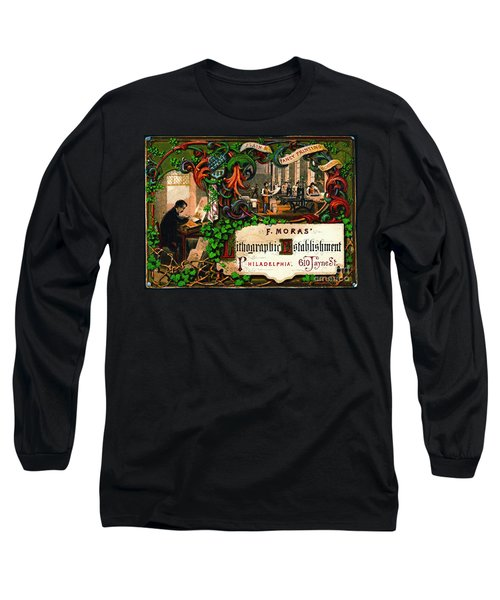 Long Sleeve T-Shirt featuring the photograph Retro Printing Ad 1867 by Padre Art