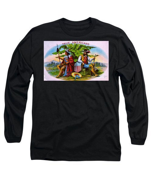 Long Sleeve T-Shirt featuring the photograph Retro Tobacco 1885 by Padre Art