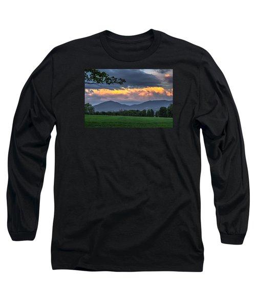 Reverse Sunset Long Sleeve T-Shirt by Tim Kirchoff