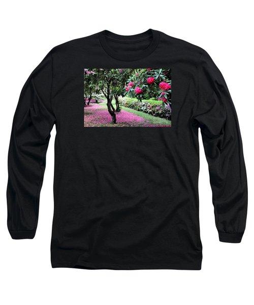 Rhododendrons Blooming Villa Carlotta Italy Long Sleeve T-Shirt