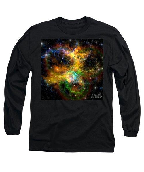 Ribbon Nebula Long Sleeve T-Shirt