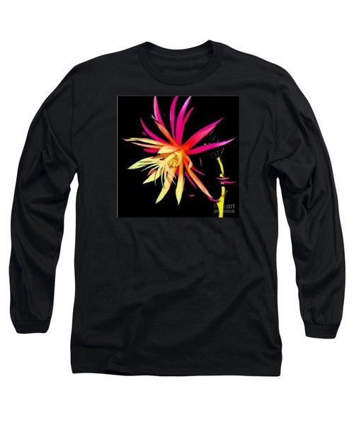 Rick Rack Fern In Black Long Sleeve T-Shirt