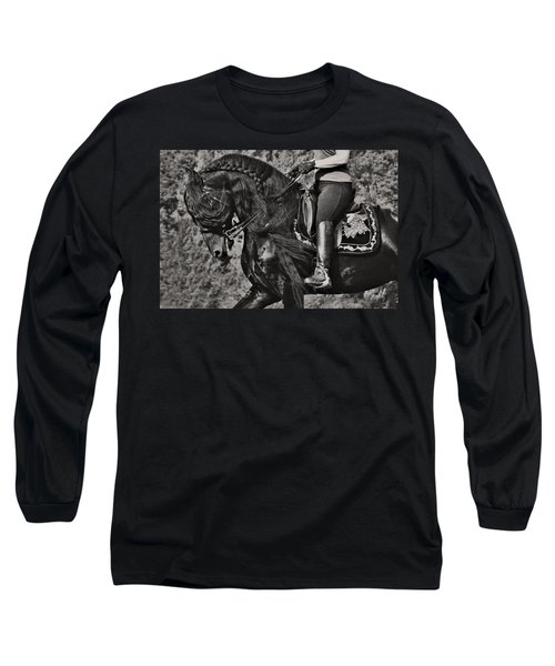Rider And Steed Dance Long Sleeve T-Shirt by Wes and Dotty Weber