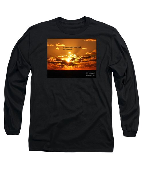 Long Sleeve T-Shirt featuring the photograph Riding The Wind by Gary Wonning