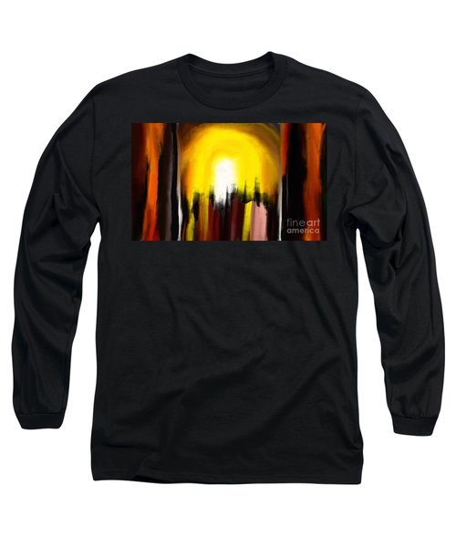 Long Sleeve T-Shirt featuring the painting Right Way by Rushan Ruzaick