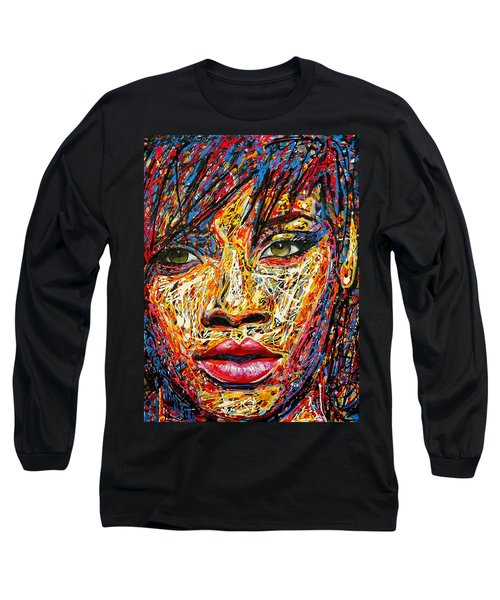 Rihanna Long Sleeve T-Shirt by Angie Wright