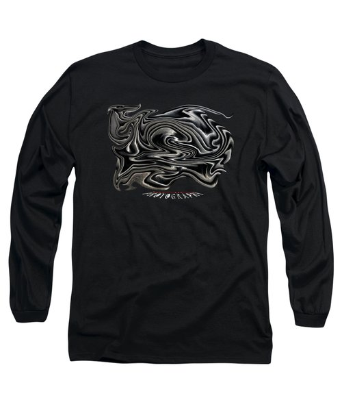 Rippled Ripples Transparency Long Sleeve T-Shirt