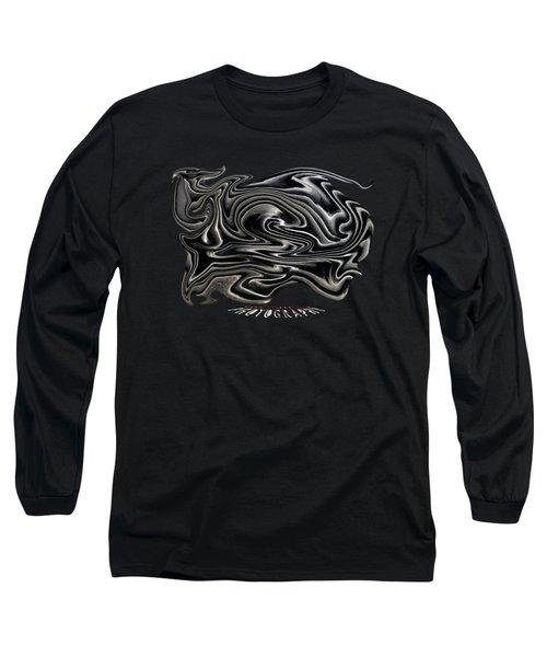 Rippled Ripples Transparency Long Sleeve T-Shirt
