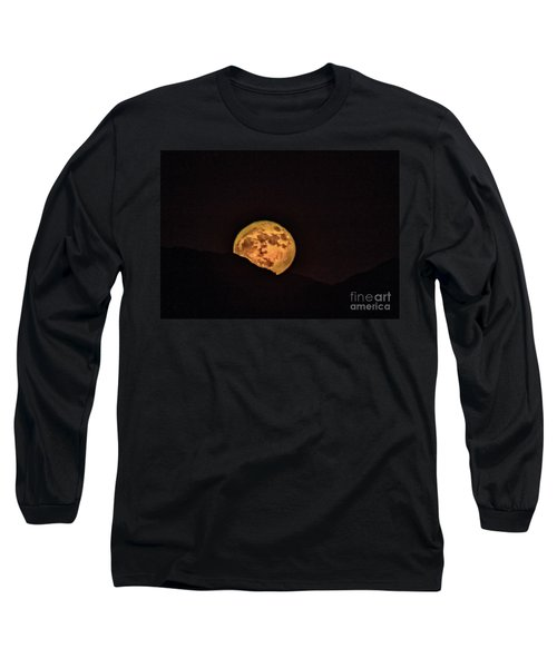 Long Sleeve T-Shirt featuring the photograph Rising Supermoon by Robert Bales