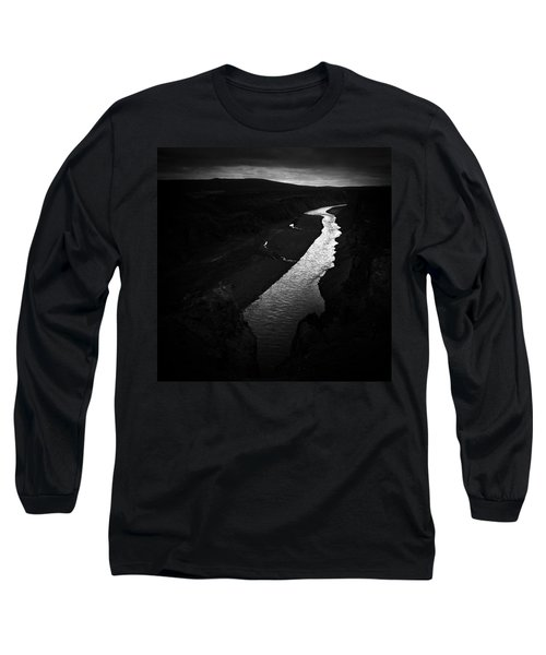 River In The Dark In Iceland Long Sleeve T-Shirt