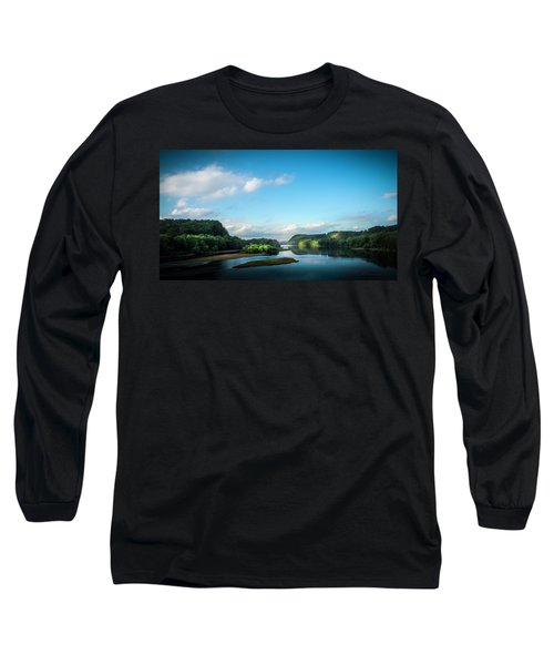 Long Sleeve T-Shirt featuring the photograph River Islands by Marvin Spates