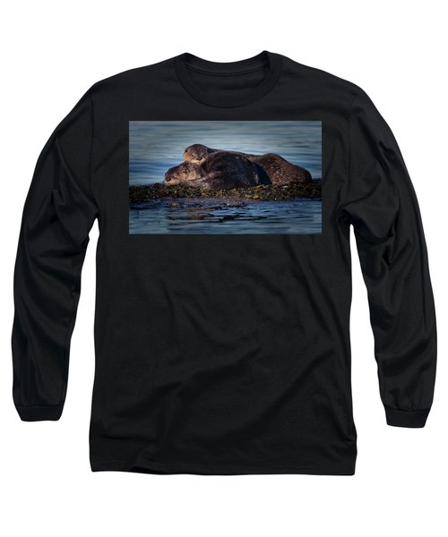 River Otters Long Sleeve T-Shirt by Randy Hall