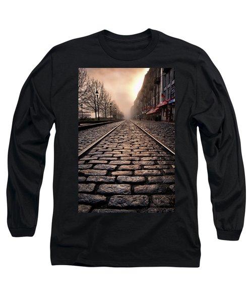 River Street Railway Long Sleeve T-Shirt by Renee Sullivan