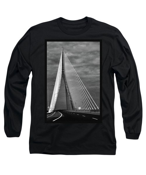 Long Sleeve T-Shirt featuring the photograph River Suir Bridge. by Terence Davis