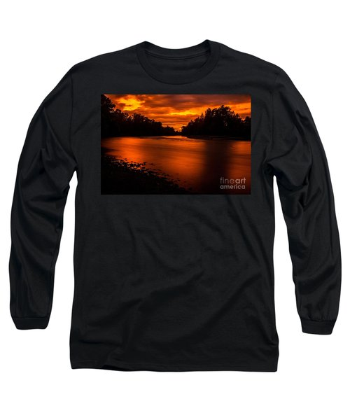 Long Sleeve T-Shirt featuring the photograph River Sunset 2 by Michael Cross