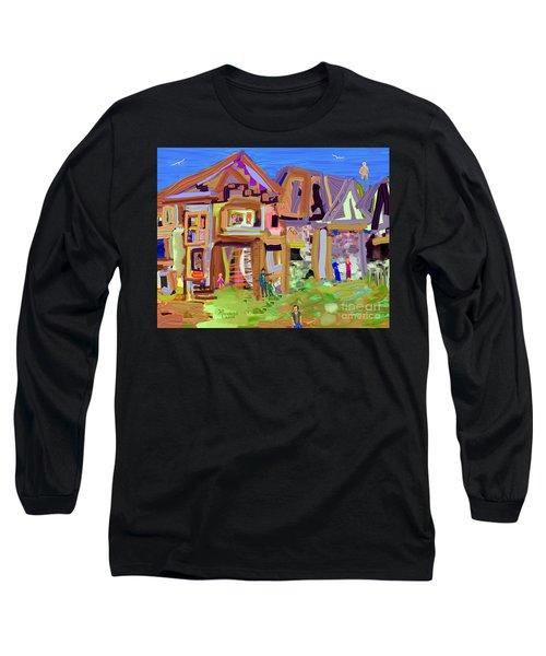 River Village Morning Long Sleeve T-Shirt
