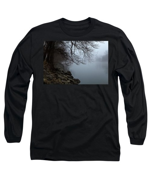 Riverbank In The Fog Long Sleeve T-Shirt