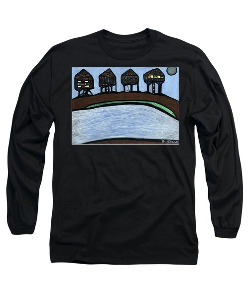 Riverside Long Sleeve T-Shirt by Darrell Black