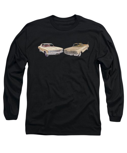 Riviera And Impala 1965 And 1959 Long Sleeve T-Shirt