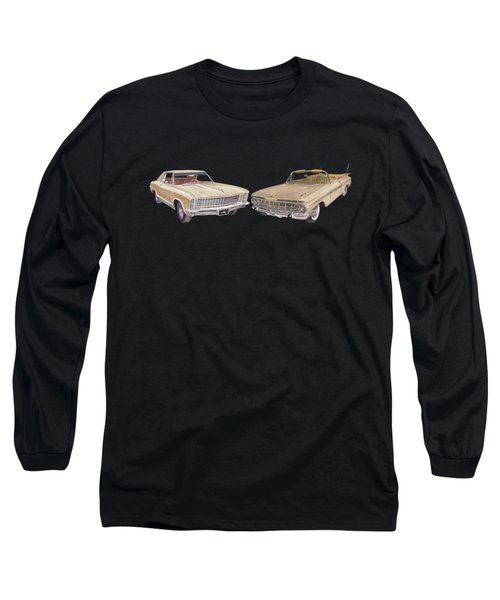 Riviera And Impala 1965 And 1959 Long Sleeve T-Shirt by Jack Pumphrey