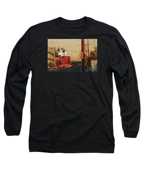 Long Sleeve T-Shirt featuring the digital art Road Ends Ahead by David Blank