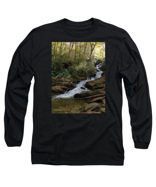 Long Sleeve T-Shirt featuring the photograph Roaring Fork Falls - October 2015 by Joel Deutsch
