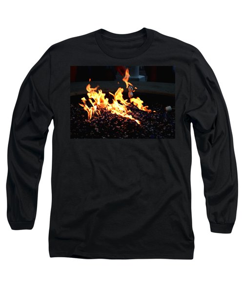 Long Sleeve T-Shirt featuring the photograph Roasting Marshmellows by Cathy Harper