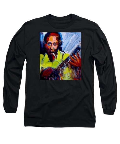Robert Johnson Long Sleeve T-Shirt by Les Leffingwell