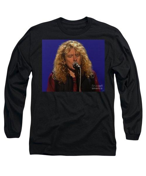 Robert Plant 001 Long Sleeve T-Shirt by Sergey Lukashin