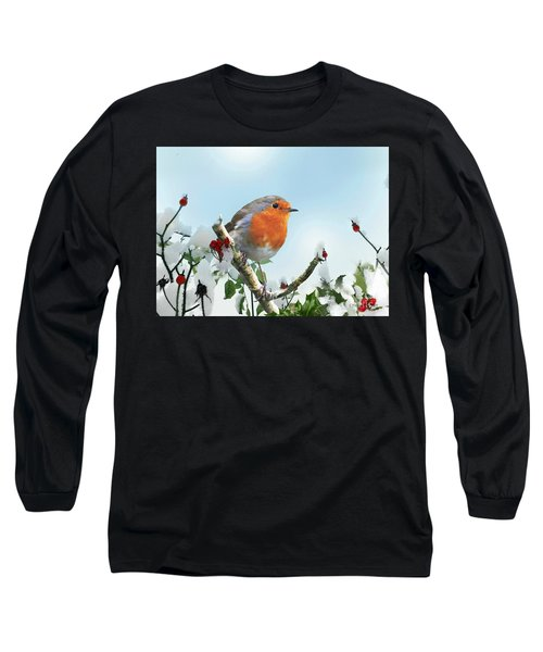 Robin In The Snow Long Sleeve T-Shirt