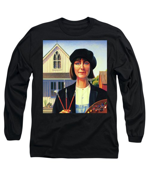 Robin Wood Self-portrait Long Sleeve T-Shirt
