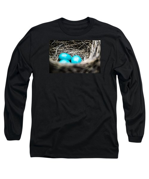 Robin's Eggs Long Sleeve T-Shirt by Shelby  Young