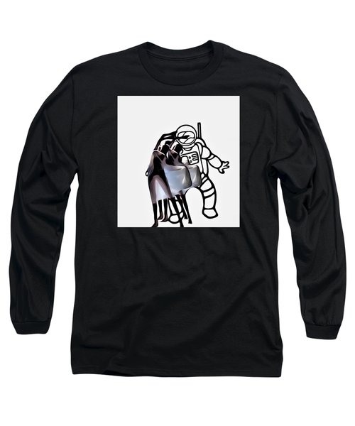 Robot In Love Long Sleeve T-Shirt by Lisa Piper