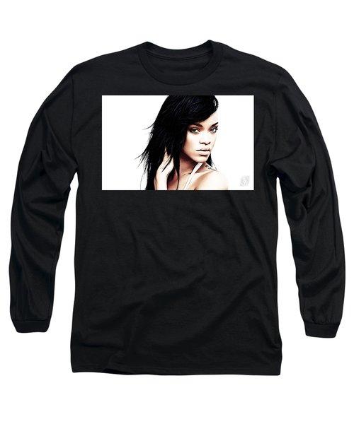 Robyn Rihanna Fenty Long Sleeve T-Shirt by The DigArtisT