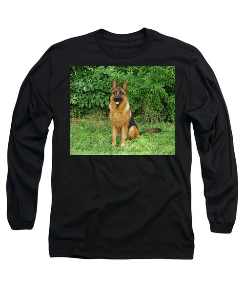 Long Sleeve T-Shirt featuring the photograph Rocco Sitting by Sandy Keeton