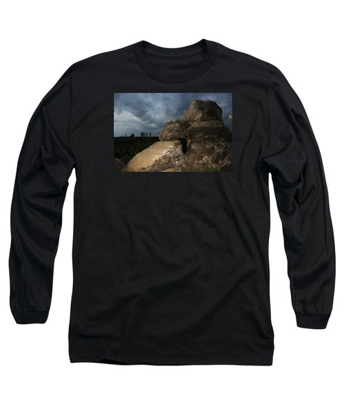 Long Sleeve T-Shirt featuring the photograph Roche Percee Peak by Ryan Crouse